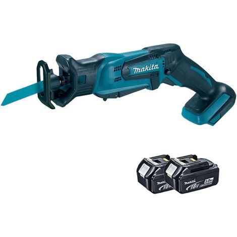 Makita DJR183Z 18V Cordless Reciprocating Saw Body with 2 x 5.0Ah Battery:18V