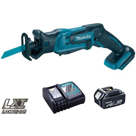 Makita DJR183Z 18V Cordless Reciprocating Saw With 1 x 5.0Ah Battery & Charger:18V