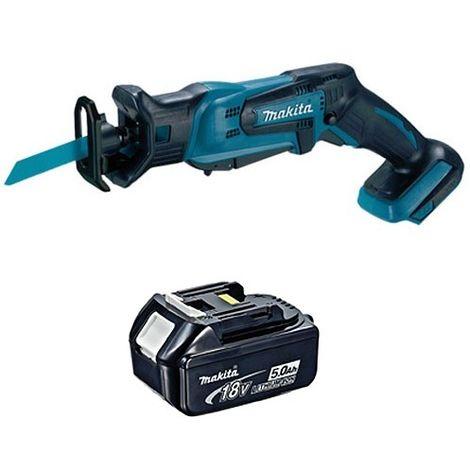 Makita DJR183Z 18V Mini Reciprocating Saw With 1 x 5.0Ah Battery