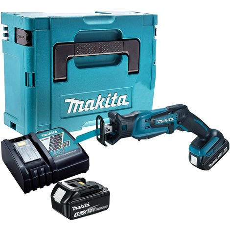 Makita DJR183Z Reciprocating Saw with 2 x 3.0Ah Battery & Charger in Case:18V