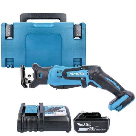 Makita DJR185Z 18V Mini Reciprocating Saw With 1 x 5.0Ah Battery, Charger & Case