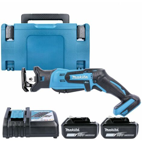 Makita DJR185Z 18V Mini Reciprocating Saw With 2 x 4.0Ah Batteries, Charger & Case