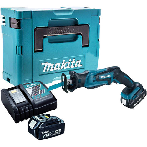 """main image of """"Makita DJR185Z 18V Reciprocating Saw with 2 x 5.0Ah Batteries & Charger in Case:18V"""""""