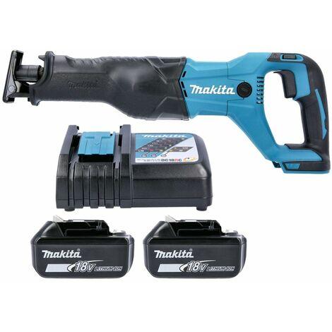 Makita DJR186 18V Cordless Reciprocating Saw With 2 x 4.0Ah Batteries & Charger