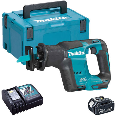 """main image of """"Makita DJR188Z 18V Brushless Reciprocating Saw with 1 x 5.0Ah Battery & Charger in Case:18V"""""""