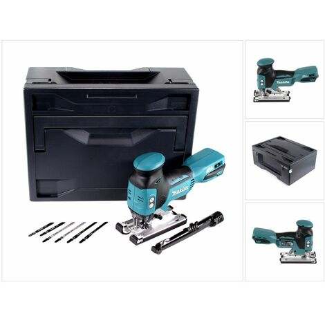 Makita DJV 181 ZX Scie sauteuse pendulaire sans fil 18V Brushless + Makbox + 6x Lames de scie à bois - sans batterie, sans chargeur