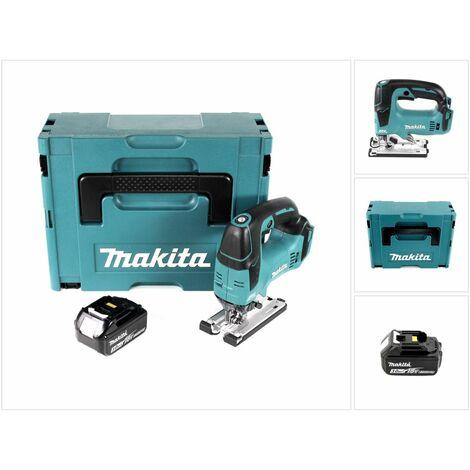 Makita DJV 182 F1J Scie sauteuse sans fil 18V Brushless 26mm + Coffret de transport Makpac + 1x Batterie BL1830 3,0 Ah - sans Chargeur