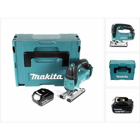 Makita DJV 182 G1J Scie sauteuse sans fil 18V Brushless 26mm + Coffret de transport Makpac + 1x Batterie BL1860B 6,0 Ah - sans Chargeur