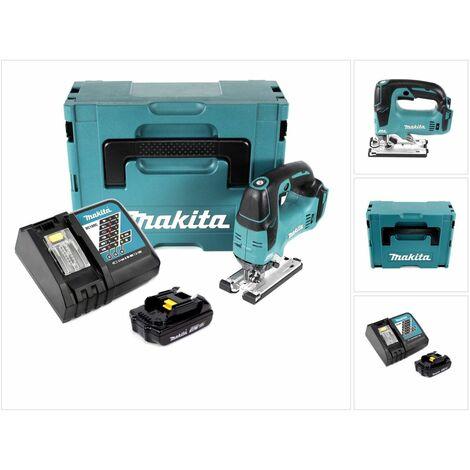 Makita DJV 182 Kit Y1J-D Scie Sauteuse sans fil Li-ion 18 V avec boîtier MAKPAC inclus Batterie BL 1815 N + chargeur DC18RC