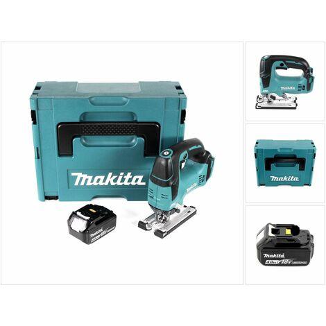 Makita DJV 182 M1J Scie sauteuse sans fil 18V Brushless 26mm + Coffret de transport Makpac + 1x Batterie BL1840B 4,0 Ah - sans Chargeur