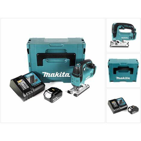 Makita DJV 182 RM1J Scie sauteuse sans fil 18V Brushless + 1x Batterie 4,0Ah + Chargeur + Coffret