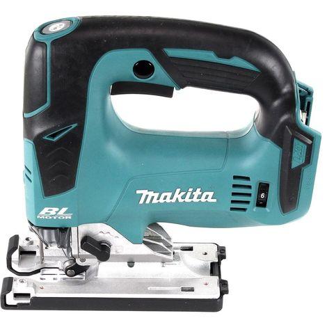 Makita DJV 182 RTJ Scie sauteuse sans fil 18V Brushless 26mm + Coffret Makpac + 2x Batteries BL1850B 5,0 Ah + Chargeur DC18RC + Assortiment A de Lame de scie Makita ( B-44410 )