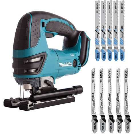 Makita DJV180Z 18V Cordless Jigsaw With 10 x Blades For Wood & Metel