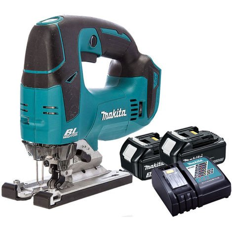 Makita DJV182Z 18V Brushless Jigsaw with 2 x 3.0Ah Batteries & Charger
