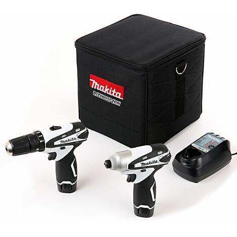 Makita DK1493WX 10.8V Combi & Impact Driver Twin Pack With 2 x 1.3Ah Batteries