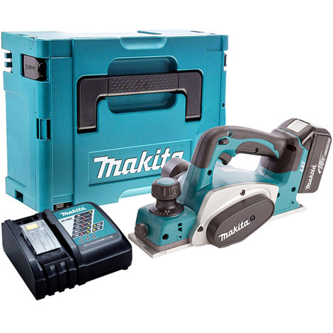 Makita DKP180Z 18V 82mm Planer with 1 x 4.0Ah Battery & Charger in Case
