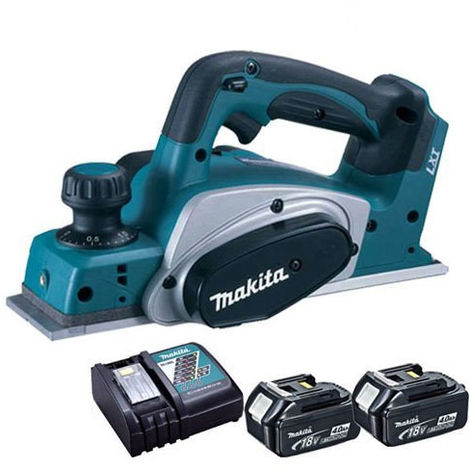 Makita DKP180Z 18V Li-Ion Planer 82mm Body with 2 x 4.0Ah Batteries & Charger:18V