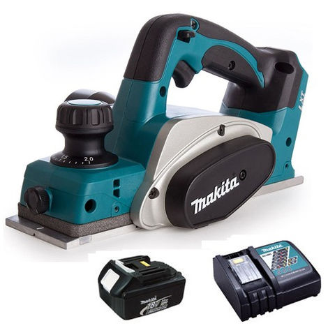 Makita DKP180Z 18V LXT Planer 82mm With 1 x 3.0Ah Battery & Charger