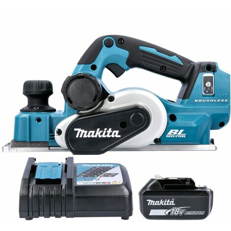 Makita DKP181 18V LXT 82mm Brushless Planer With 1 x 5.0Ah Battery & Charger