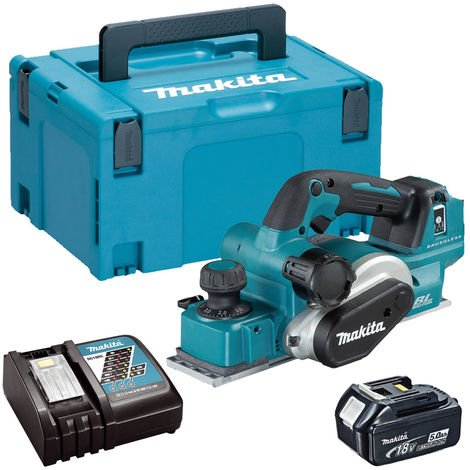 Makita DKP181Z 18V LXT Brushless Planer with 1 x 5.0Ah Battery & Charger in Case