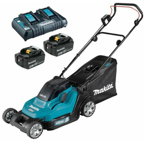 Makita DLM432PG2 Twin 18v / 36v LXT Cordless Lawnmower 2 x 6Ah Batteries & Charger