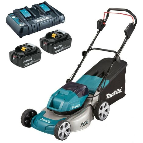 Makita DLM460PG2 18v / 36v LXT Cordless Lawn Mower 2 x 6.0ah Battery + Charger