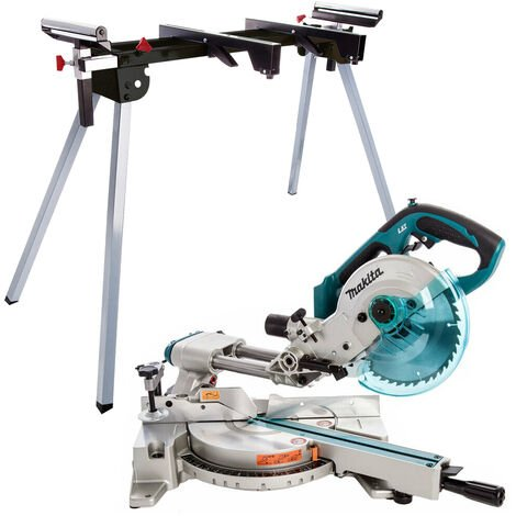 Makita DLS713Z 18V LXT Cordless 190mm Slide Compound Mitre Saw With Leg Stand