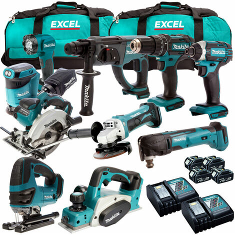 Makita DLX1014PT 10 Piece Power Tool Kit 18V LXT