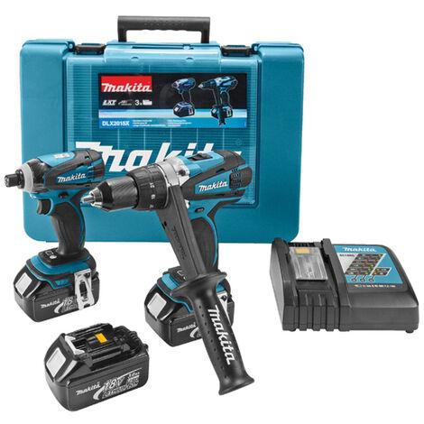 Makita DLX2015X ensemble visseuse perceuse (DDF458) & visseuse à chocs (DTD146) à batteries (3x batteries 3.0Ah) dans coffret