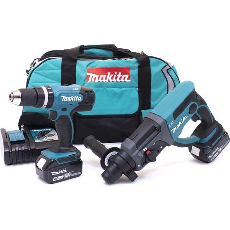 Makita DLX2025M 18v DHR202/DHP453 Twin Pack with 2 x 4.0Ah Batteries