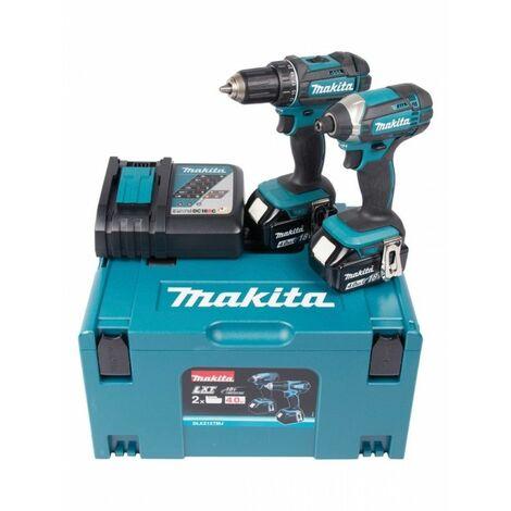 Makita DLX2127MJ 18V Litio-Ion batería Taladro / Atornillador (DDF482) & Atornillador de impacto (DTD152) combiset (2x 4.0Ah) en Mbox