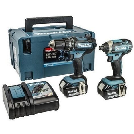 Makita DLX2131J 18V LXT 2 Piece Combi Drill and Impact Driver Kit with 2 x 3.0Ah Batteries