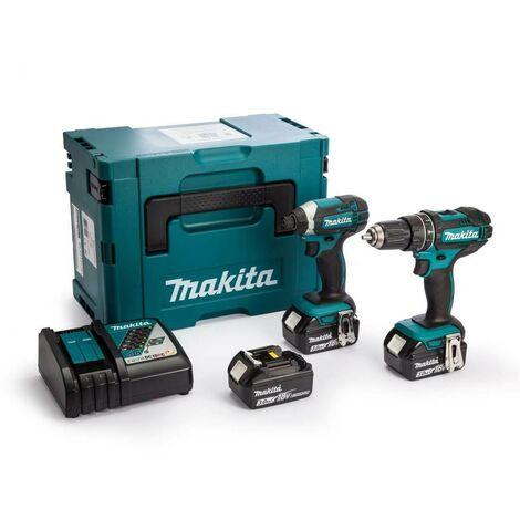 Makita DLX2131J 18v LXT Twinpack 2 x 3.0Ah Charger & Macpak