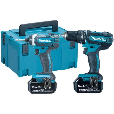 Makita DLX2131JX 18V Combi Drill & Impact Driver 2 x 3.0Ah Batteries