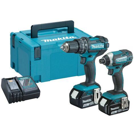 Makita DLX2131MJ LXT 18v Twin Pack DHP482 Combi Drill + Impact Driver DTD152