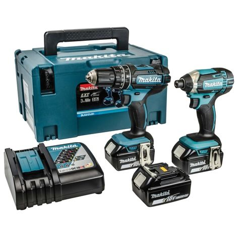 Makita DLX2131MJ1 18v LXT 2 Piece Combo Kit 3x 4ah Batteries