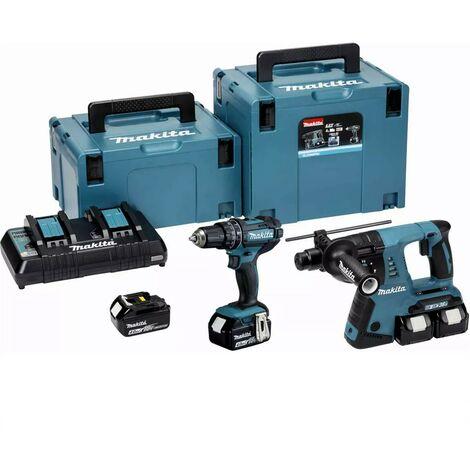 Makita DLX2137PTJ Twin 18v / 36v DHR263Z SDS Rotary Hammer Drill DHP482Z Combi