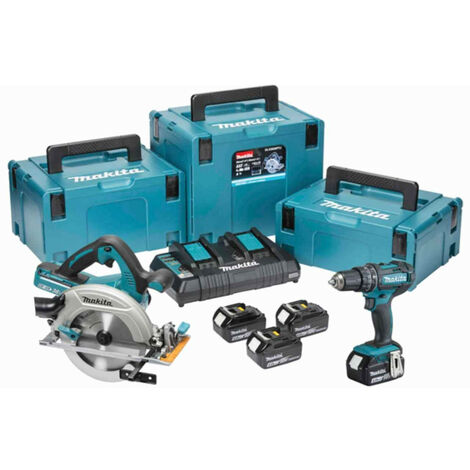 Makita DLX2140PMJ LTX 18V Cordless Twin Kit with 4x 4.0Ah Batteries