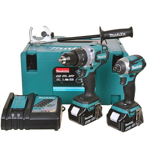Makita DLX2176MJ 18V Li-ion Brushless Twin Pack Kit 2 x 4Ah Batteries:18V