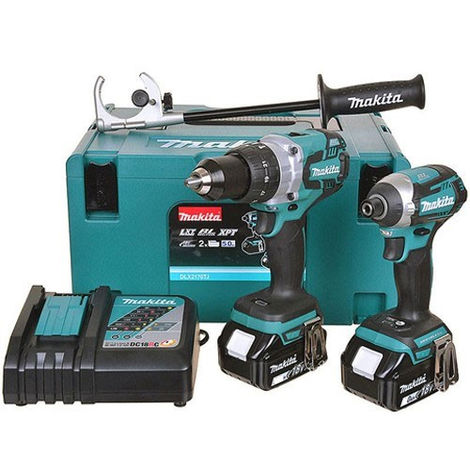 Makita DLX2176RJ 18V Li-ion Brushless Twin Pack Kit with 2 x 3.0Ah Batteries & Charger in Case:18V