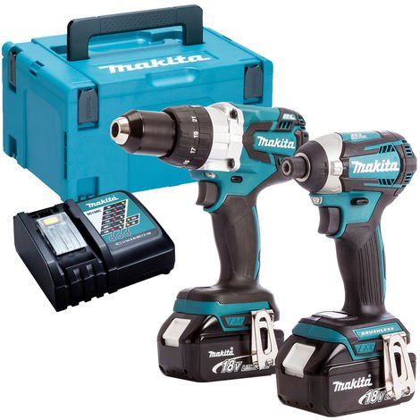 Makita DLX2176TJ 18V LXT 2 Piece Brushless Kit 2 x 5.0Ah Batteries & Charger in Case