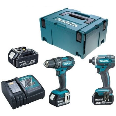 Makita DLX2188M3J 18V LXT 2 Piece Combi Drill and Impact Driver Kit with 3 x 4.0Ah Batteries