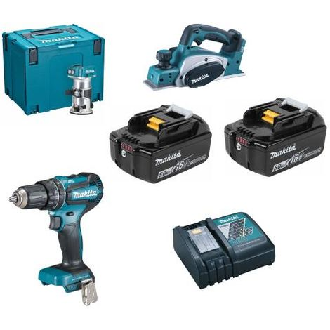 MAKITA DLX3116TJ 3 PIECE LI-ION KIT with 2 x 5ah Lion Ion Battery