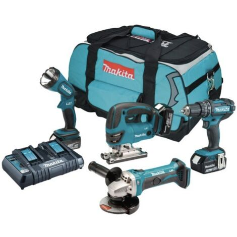 Makita DLX4051PM1 18V Cordless 4 Piece Kit with 3x 4.0Ah Batteries
