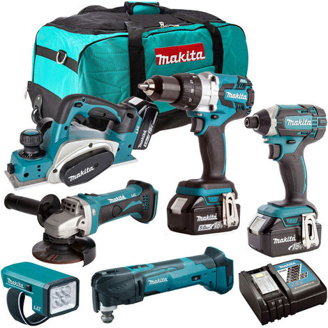 Makita DLX6012MT6 18V LXT Lithium-ion 6 Piece Combo Kit 3 x 5.0ah Batteries:18V