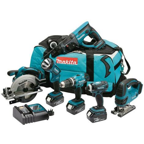Makita DLX6017M 6 Piece Cordless Power Tool Kit