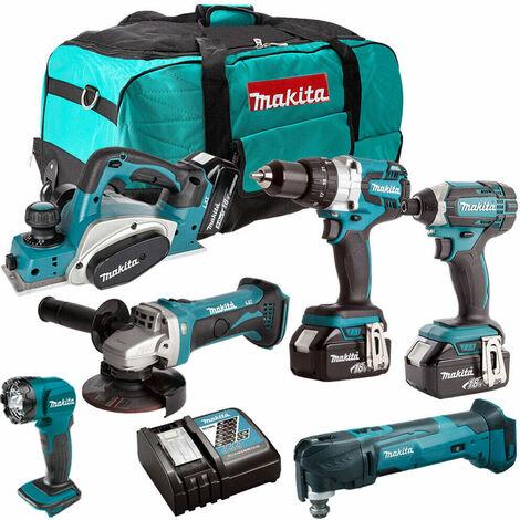Makita DLX6067PT6 18V 6 Piece Power Tool Combo Kit 3 x 4.0Ah Li-ion LXT:18V