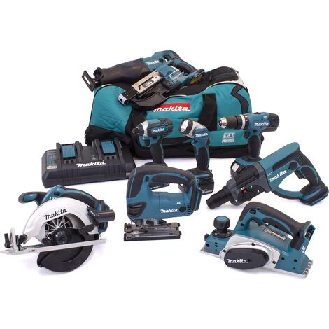 Makita DLX6068PT92 18V 9 Piece Kit 3x 5.0Ah Batteries