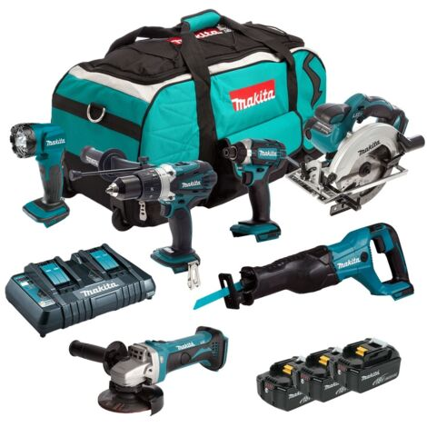Makita DLX6072PT 18v 6 Piece kit with 3 x 5.0Ah Batteries