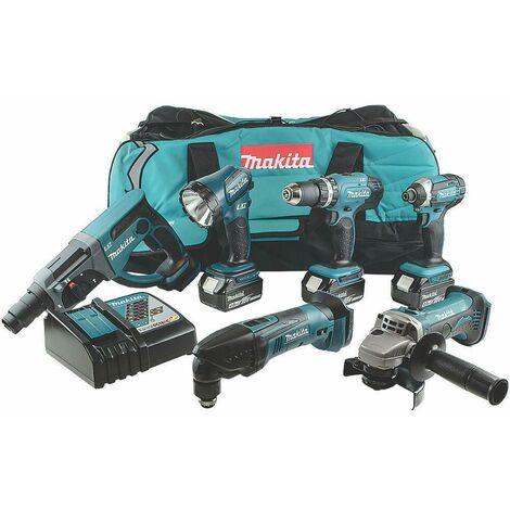 Makita DLX6075M 18V LXT 6Pcs Drill Combo Kit